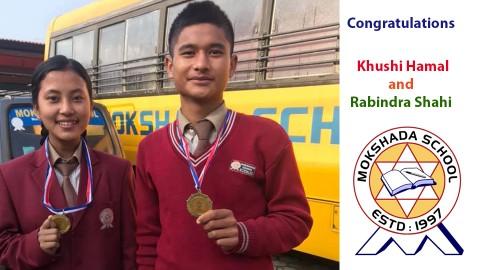 Khushi Hamal and Rabindra Shahi Grabbed the 1st Position